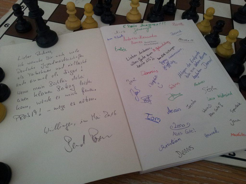"""Bald ist Andreas Gregor auch """"Fit im Endspiel"""" - ganz Herzlichen Dank an den Autor Bernd Rosen für die wunderbare Widmung."""