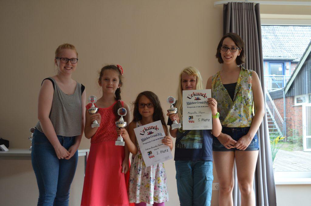 Besten drei U10) Von links nach rechts: Natascha Irrgang, Andreea-Alexandra Roncea und Margarethe Wagner