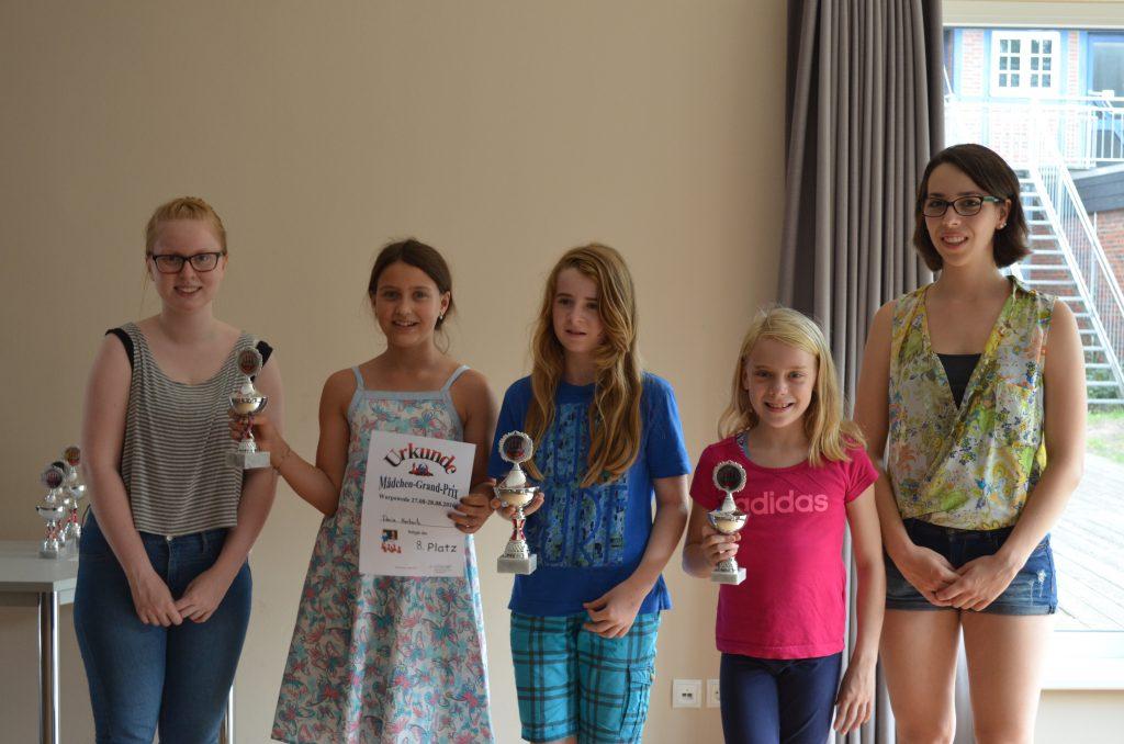 Besten drei U12) Von links nach rechts: Daria Herbertz, Victoria Wagner, Enna Evering
